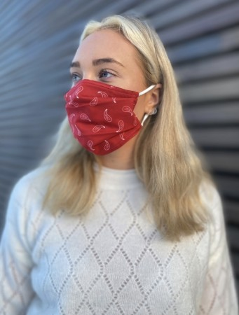 Echo Red Bandana Mask