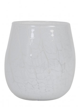 Light And Living Tealight ø:15*16,5 Cm Sylas Glass White
