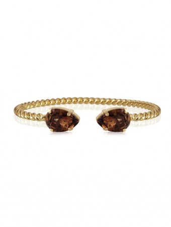 Caroline Svedbom Smoked Topaz Mini Drop Bracelet Gold
