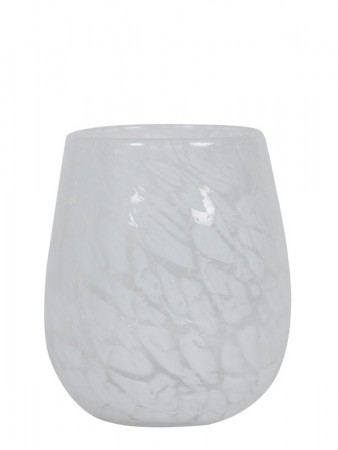 Light And Living Tealight ø:13*14 Cm Sylas Glass White