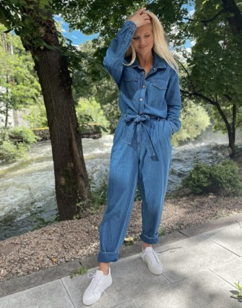 Second Female Blue Denim Ingrid Jumpsuit
