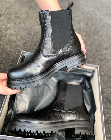 Laura Bellariva - Ladies Ankle Boot - Cervo Nero - Igm Nero Gom