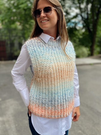 Second Female Brunnera Blue Elsa Knit Vest