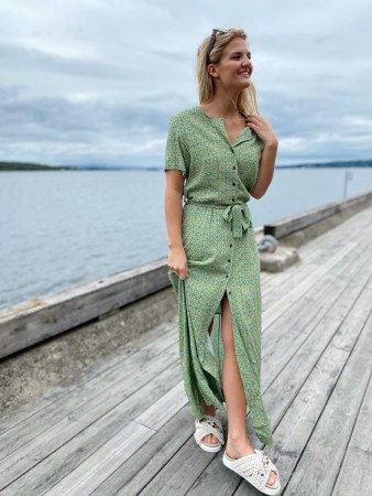 Holzweiler Green Print Small Ocean Dress 20-03