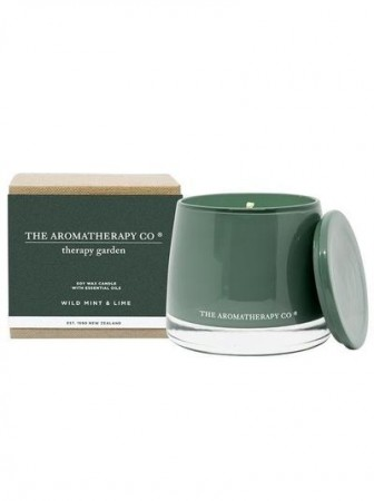 The Aromatherapy - Therapy Garden Candle 260g Wild Mint & Lime