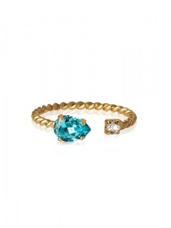 Caroline Svedbom Gold Nani Ring Gold Light Turquoise 263