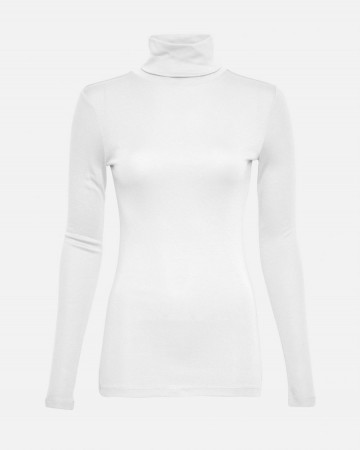 Msch Bright White Mona Lyocell R Ls Top