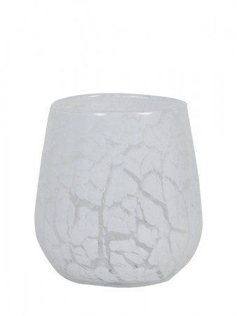 Light And Living Tealight ø:9,5*10 Cm Sylas Glass White