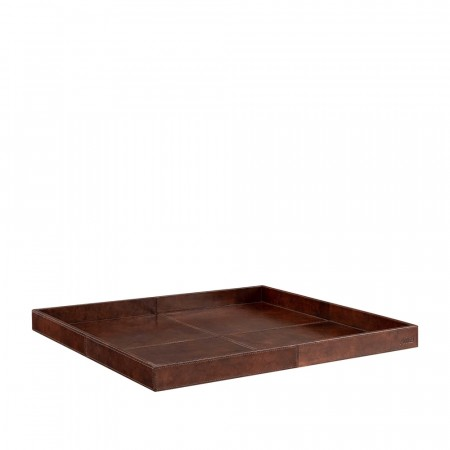 Artwood Mendoza Sqaure Tray - 55 X 4cm  Leather Brown
