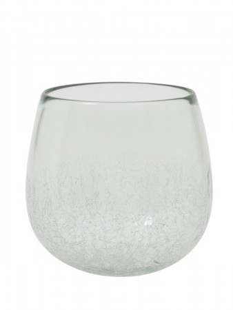 Light And Living Vase ø:22*24 Cm Wadi Glass Half Craquele Clear