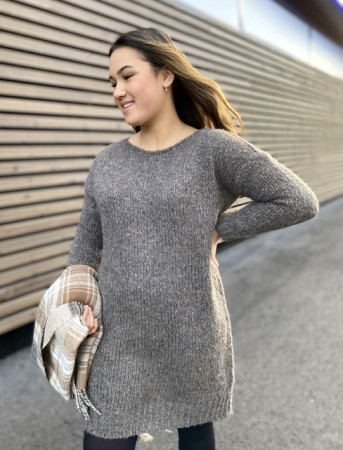 Noella Nature Brown Kala Knit Dress