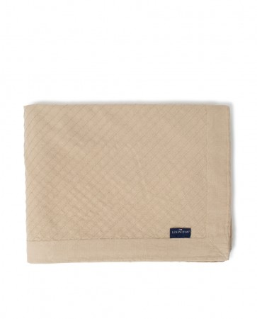 Lexington Diagonal Structured Cotton Bedspread (beige)