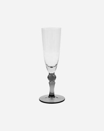 House Doctor -  Champagne Glass, Meyer, Clear/grey