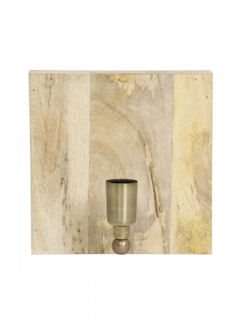 Light And Living Wall Lamp 25x25x17 Cm Buxton Wood+antique Bronze