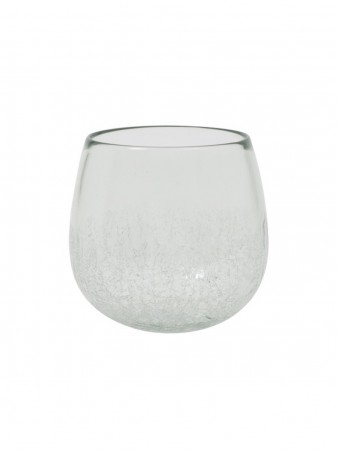 Light And Living Vase ø:18,5*17,5 Cm Wadi Glass Half Craquele Clear
