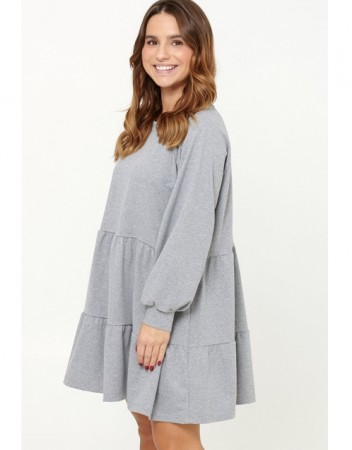 Noella Grey Melange Holly Sweat Dress