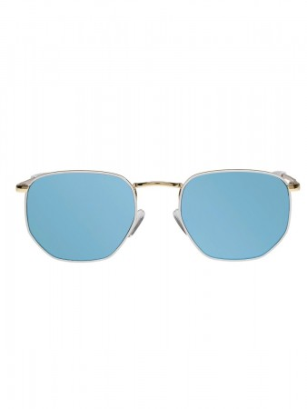 Le Specs Alto Gold/white W/ Blue Mirror