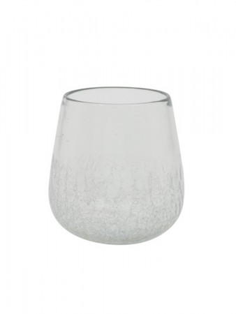 Light And Living Vase ø:12*12,5 Cm Wadi Glass Half Craquele Clear
