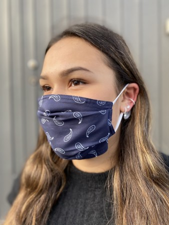 Echo Navy Bandana Mask