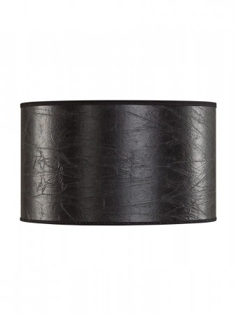 Artwood Cylinder Leather Black - ø:40 H:21cm