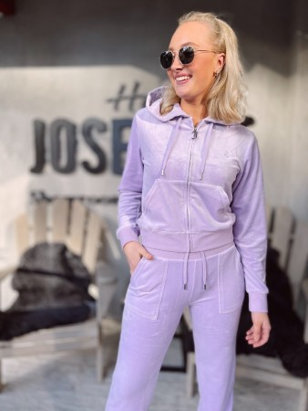Juicy Couture Pastel Lilac Robertson Classic Velour Zip Trough Hoodie