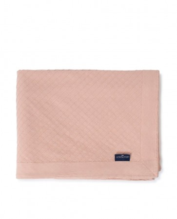 Lexington Diagonal Structured Cotton Bedspread Pink