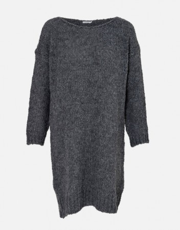Noella Dark Grey Melange Kala Knit Dress