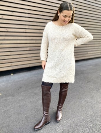 Noella Beige Kala Knit Dress