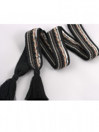 Noranorway Belt Knit Tassle Black