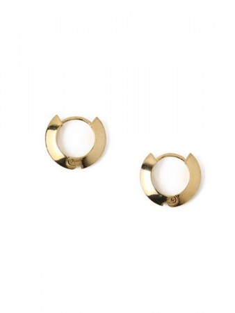 Orelia - Clean Edge Hug Hoops Gold