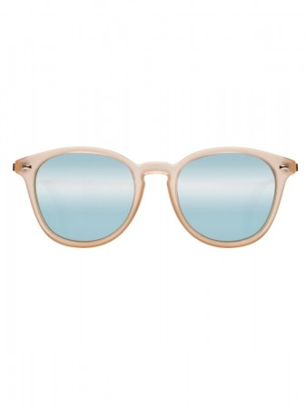 Le Specs Bandwagon Raw Sugar W/ Ice Blue Revo Mirror Lens