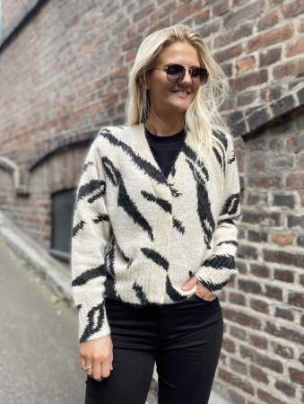 Second Female Black Rego Knit Cardigan