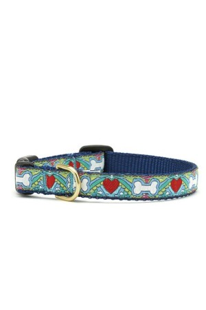 Up Country - Collar - Multicolor Bone/heart - Sz M