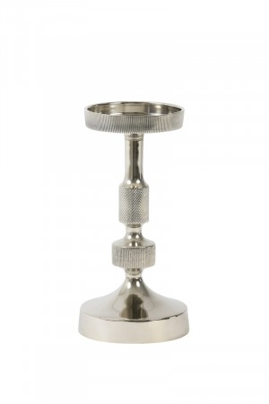 Light And Living Nickel Candle Holder ø10x21 Cm Kieran